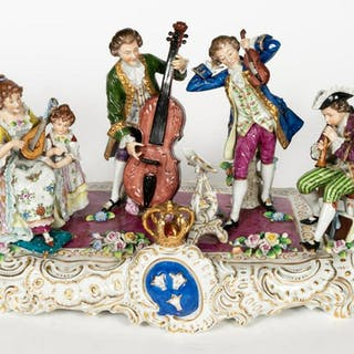 Sitzendorf, Porcelain Music Room Grouping
