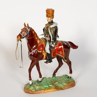 Dresden Porcelain Model, 10th Hussars Review Order