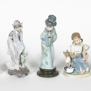 Five, Female Lladro Porcelain Figurines