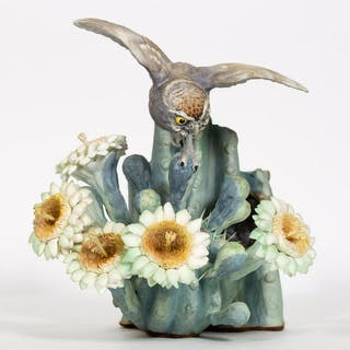 Dorothy Doughty Moonlight Elf Owl with Wooden Box