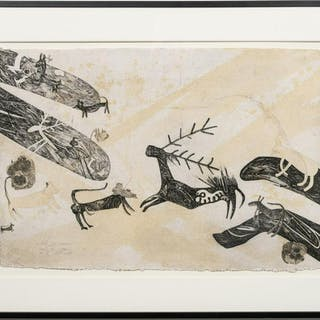 """Nall """"Le Chasse"""" Figural Animal Etching, EA"""