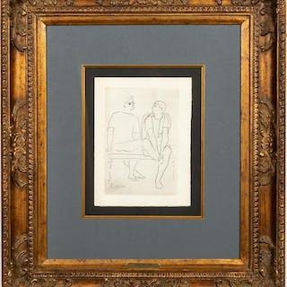 """Picasso """"Grace Et Movement"""" Copper Plate Engraving"""
