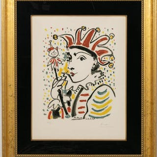 "Picasso, ""La Folie"" Pencil Signed Lithograph"