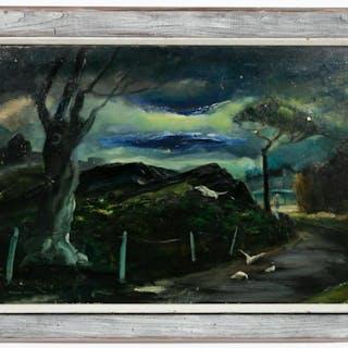 "Ferdinand E. Warren ""The Promise"" Landscape Oil"