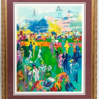 "Leroy Neiman ""Derby Day Paddock"" Serigraph, 16/250"