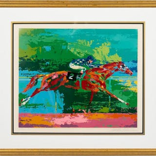 "Leroy Neiman, ""Big Red Secretariat"" Serigraph"