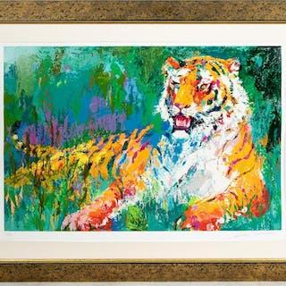 "Leroy Neiman ""Resting Tiger"" Serigraph, 44/360"