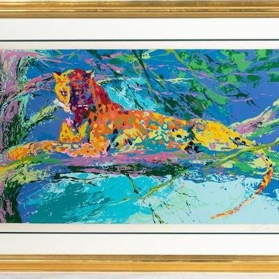 "Leroy Neiman ""Kenya Leopard"" Serigraph 132/300"