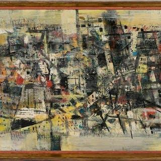 "Ferdinand Warren ""Approaching the City"", Oil"