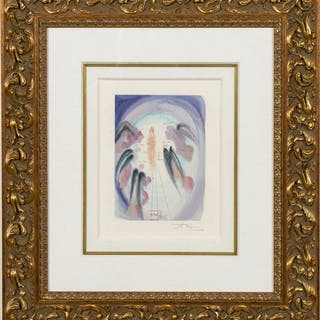 "Dali Signed, ""The Joy of the Blessed"" Lithograph"
