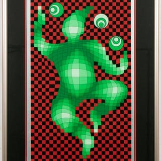 Victor Vasarely Signed Op Art Serigraph, 34/150