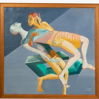 Anna-Stina Ehrenfeldt, 1992 Figural Surrealist Oil