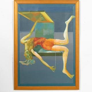 Anna-Stina Ehrenfeldt, 1988 Figural Surrealist Oil
