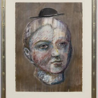 "Kathleen Morris Figural Monotype ""Untitled (Head)"""