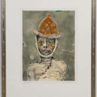 "Kathleen Morris, ""Parade II""  Figural Monotype"