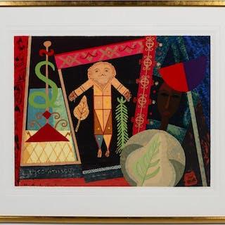 Lois Mailou Jones, Veve Vodou II, 1997 Lithograph