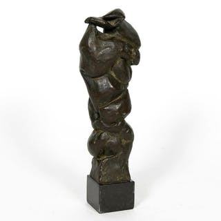 John Portman, Abstract Form Bronze Sculpture 1992
