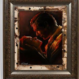 "Bill Mack, ""Burning Love"" Figural Portrait 2012"