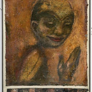 "Kathleen Morris, ""Storia"" Figural Oil Portrait"