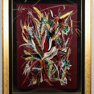 "Martiros Manoukian ""Angelica IV"" Mixed Media"