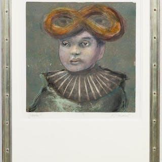 """Kathleen Morris """"Pasha II"""" Figural Monotype"""