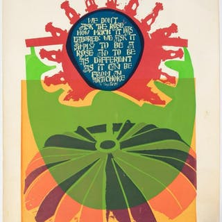 "Barbara Brozik ""Smile"" Colorful Serigraph 1972"