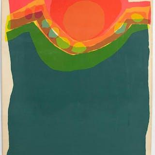 "Barbara Brozik, ""Candy Roasters"" Serigraph, 1974"