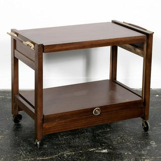 Brown-Saltman Furniture Modern Mahogany Bar Cart