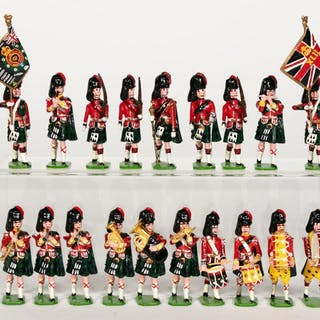 19 Pc, Ducal Scottish Highlander Toy Soldiers