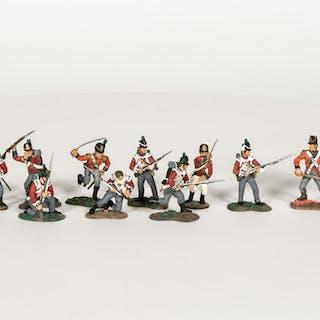 Britians, 11 Piece British Lead Soldier Army