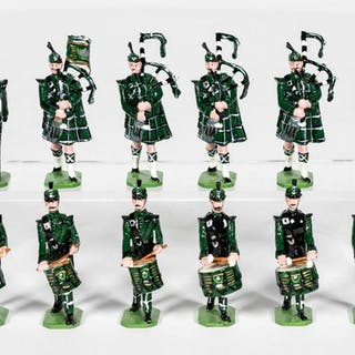12 Pc, Ducal The Cameronians Scottish Lead Soldier