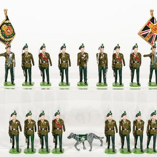 18 Pc, Ducal Models British Infantry Toy Soldiers