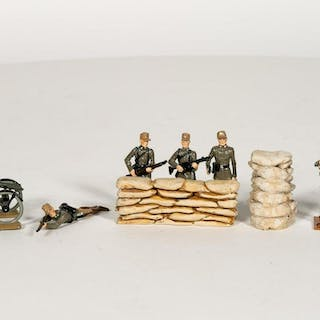 "9 Pc, Fusilier Miniatures ""D Day"" Toy Soldiers"