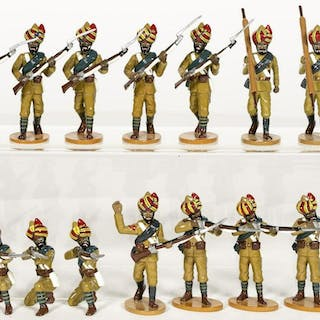 14 Pc, Frontline Figures Khyber Rifles Toy Soldier