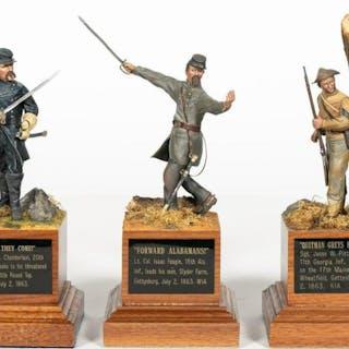 Three, Paul Meuse Civil War Soldier Models