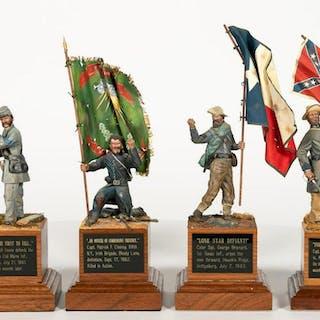 Four, Paul Meuse Civil War Soldier Models