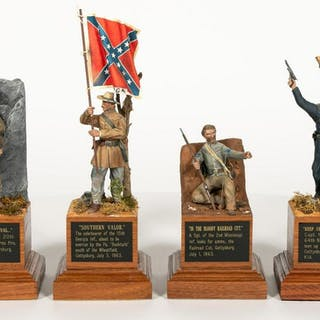 Four, Paul Meuse Civil War Soldier Scale Models