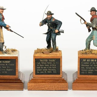 Three, Paul Meuse Civil War Soldier Scale Models