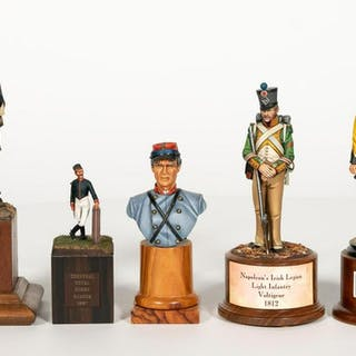 Five, Hand Painted Miniature Soldier Models