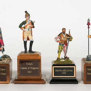 Four, David Kennedy Hand Painted Miniature Models