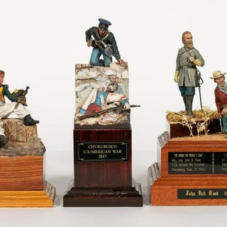 Three, Signed Hand Painted Miniature Soldiers