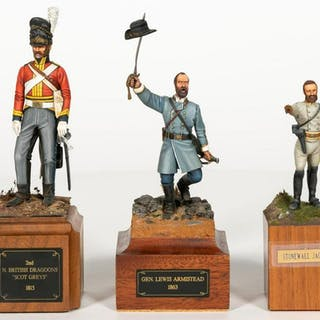 Three, Signed Hand Painted Miniature Models
