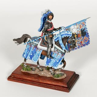 Hand Painted Russian Knight Figurine