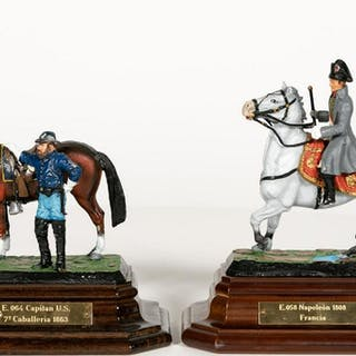 Two, Hand Painted Scale Models Including Napoleon