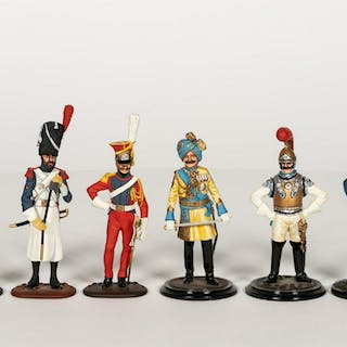 Six, Hand Painted Toy Soldier Scale Models
