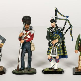 Four, Painted Scale Model Toy Soldiers