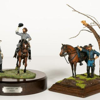 Two, Hand Painted Scale Model Figurines