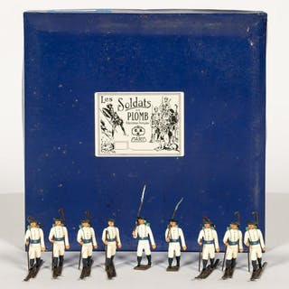 Nine, Toy Soldiers Ski Troopers Made in France