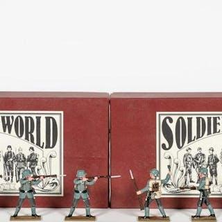10, WWI German Steel Helmet Toy Soldiers