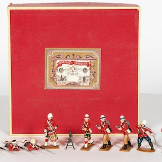 11 Pc, British Lead Toy Soldiers Marked TM